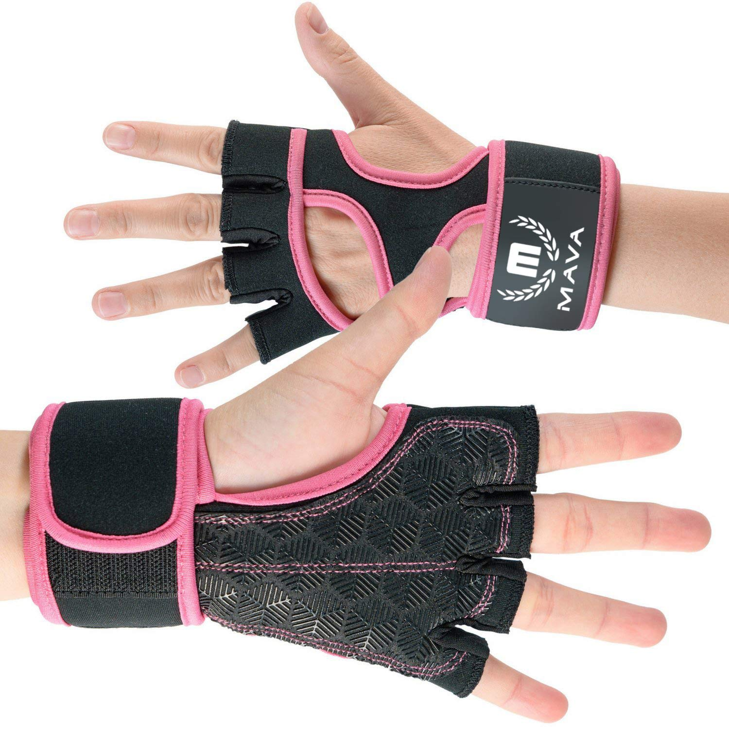 1189f632e5 Cross Training Gloves with Wrist Support for Gym Workouts Silicone Padded  Workout Hand Grips Against Calluses ...