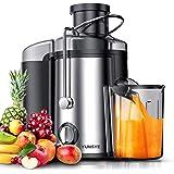 ماكينة عصير ذات فم عريض من يونسي باستطاعة 800 واط، عصارة للفاكهة والخضروات الكاملة مع وظيفة مضادة للتنقيط ومزدوجة السرعة…