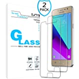 KATIN Galaxy J2 Prime Screen Protector - [2-Pack] Tempered Glass for Samsung Galaxy J2 Prime Bubble Free, Easy to Install with Lifetime Replacement Warranty