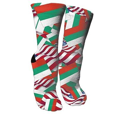 Amazon.com: Calcetines de baloncesto con bandera de Bulgaria ...