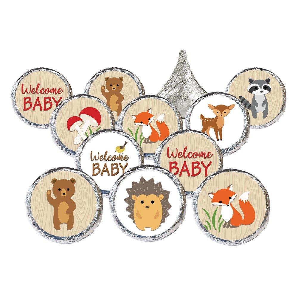 Woodland Animals Baby Shower Favor Stickers (Set of 324)