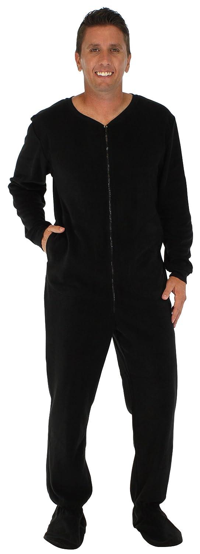 PajamaMania Men's Fleece Onesie Footed Pajama Pjs