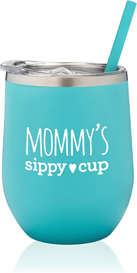 Mommy/'s Sippy Cup  Stemless Wine Glass  Mommy/'s cup  Sippy Cup  Wine Glass  Mom Wine Glass