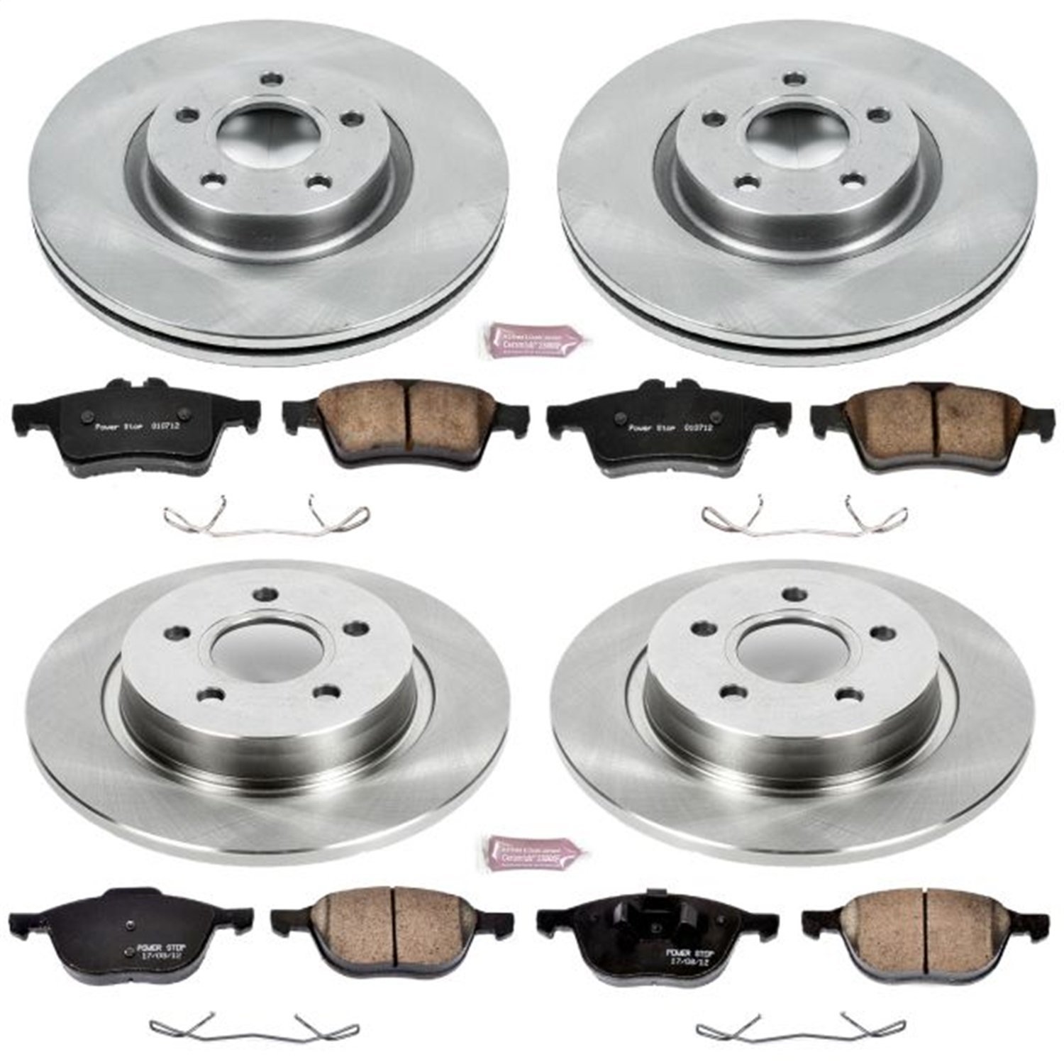 Front and Rear Power Stop KOE4051 Autospecialty Daily Driver OE Brake Kit