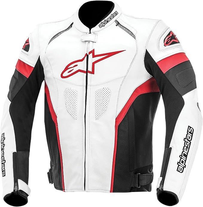 Amazon.com: Alpinestars GP Plus R Leather Mens Riding Jacket (Black/White/Blue, Size 54): Automotive