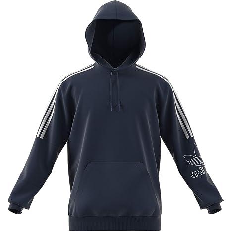 adidas Outline Hoody Felpa, Uomo, Blu (Maruni): Amazon.it