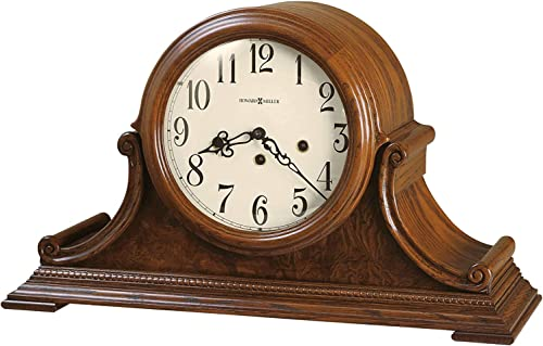 Howard Miller Hadley Mantel Clock 630-222 Oak Yorkshire, Key Wound Single Chime Movement