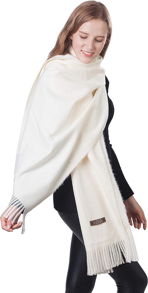 Womens Large Soft Wedding Evening Pashmina Shawls Wraps Scarfs Stole for Gifts