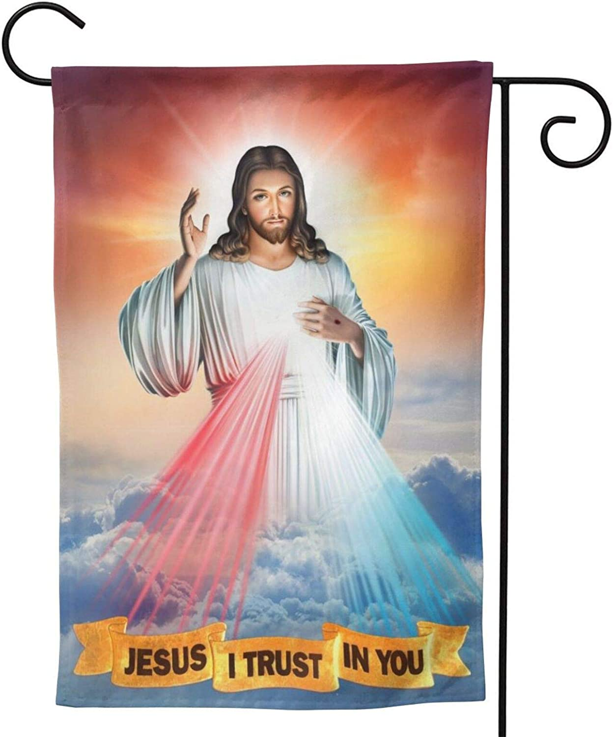 """YISHOW Divine Mercy of Jesus God of Christian Garden Flag Double Sided Vertical Divine Mercy of Jesus God of Christian House Flags Yard Signs Outdoor Decor 12.5""""X18"""""""