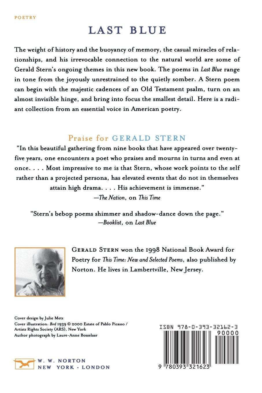 Last blue poems gerald stern 9780393321623 amazon books fandeluxe Images