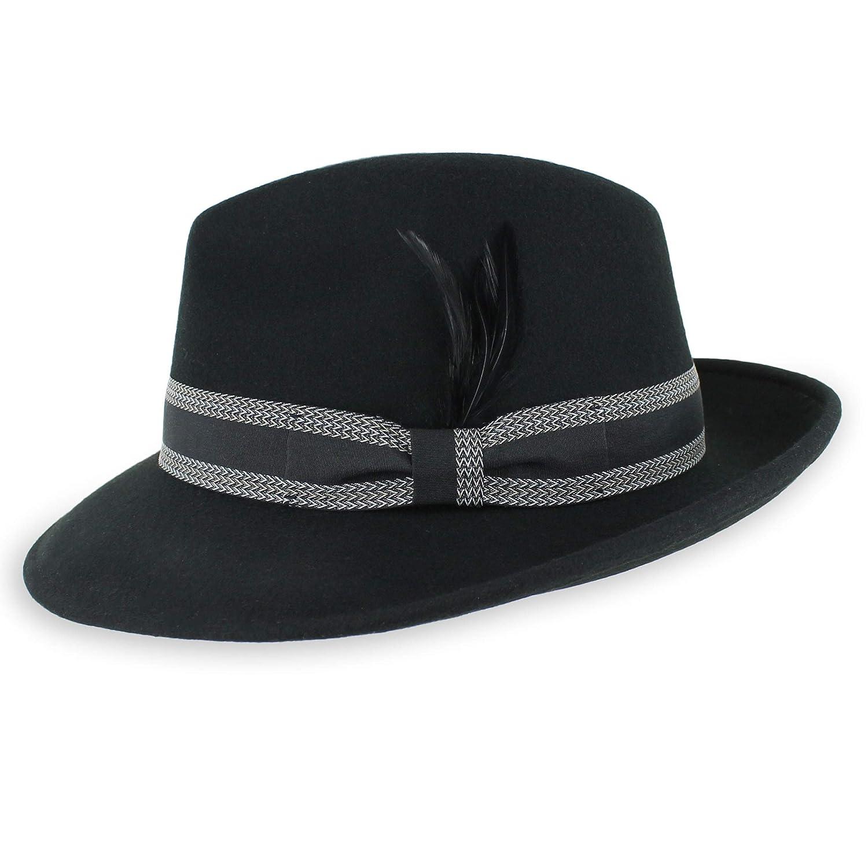 dec46c620 Belfry Bogart 100% Wool Men's Dress Fedora in 5 Colors