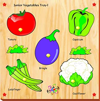 Kinder Creative Junior Vegetables with Knobs, Brown