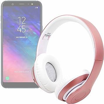 DURAGADGET Auriculares Plegables inalámbricos en Color Rosa para Smartphone Samsung Galaxy A6, Samsung Galaxy A6: Amazon.es: Electrónica