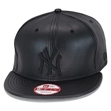 ... cheapest new era 9fifty new york yankees snapback hat cap all black pu  leather 8bb59 1f919 be7fcf8549d