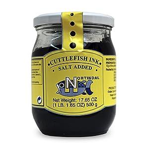Nortindal Tinta de Calamar - Squid Ink (Large Jar -17.6 fluid oz/500 g