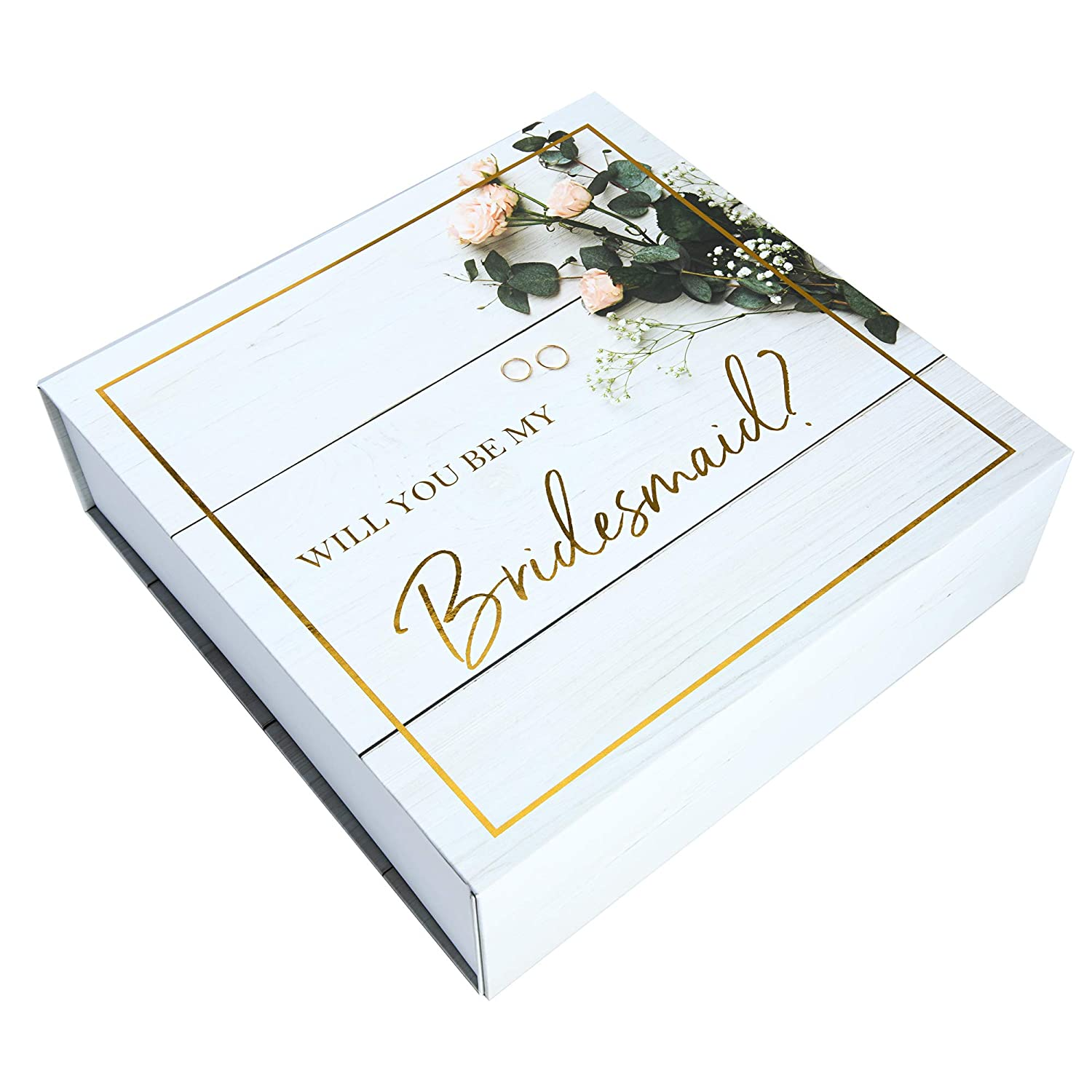 Maid of Honor Proposal Box - Premium Gold Stamped -