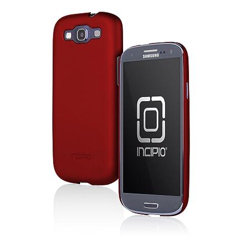 Incipio - Carcasa fina para Samsung Galaxy S3 con protector de pantalla y soporte para vídeo, diseño iridiscente, color rojo