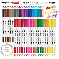 Rotuladores Punta Pincel 36 Colores, Rotuladores Punta Fina Doble Punta Brush Pen, para Adulto libros de colorear…