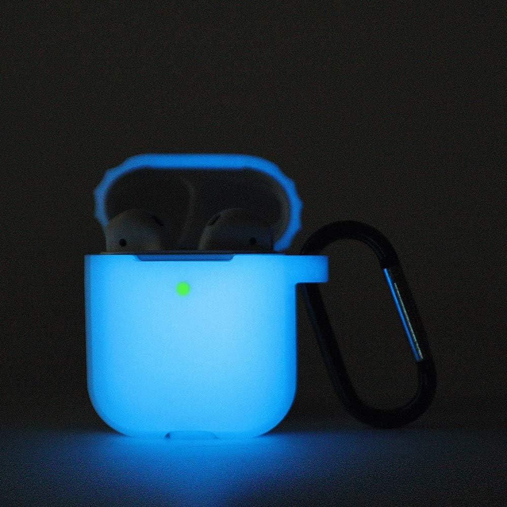 - Nightglow Pink soporta carga inal/ámbrica KOKOKA LED visible en la parte frontal , Funda protectora de silicona compatible con Apple AirPods 2 y 1 carcasa de silicona para AirPods