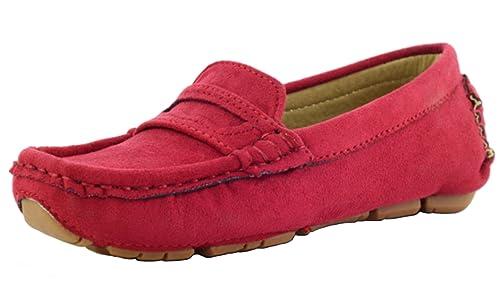 DADAWEN Mocasines de Material Sintético Para Niño, Color Rojo, Talla 38 EU: Amazon.es: Zapatos y complementos