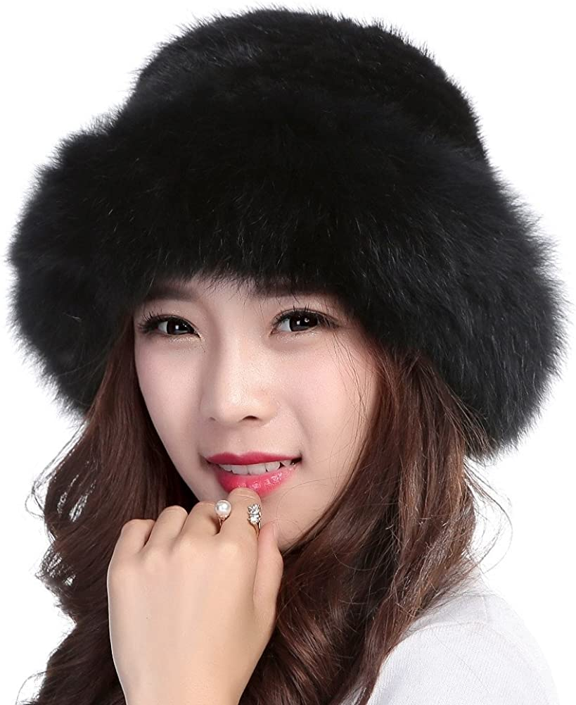 women winter hat hat with fur cap winter hat present for New Year natural winter hat handmade winter  hat