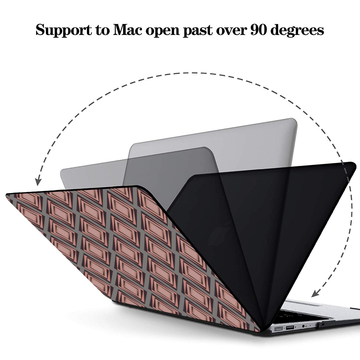 MacBook Air Hard Cover Summer Romantic Love Pear Cat Green Leaf Plastic Hard Shell Compatible Mac Air 11 Pro 13 15 Laptop Case Mac Protection for MacBook 2016-2019 Version