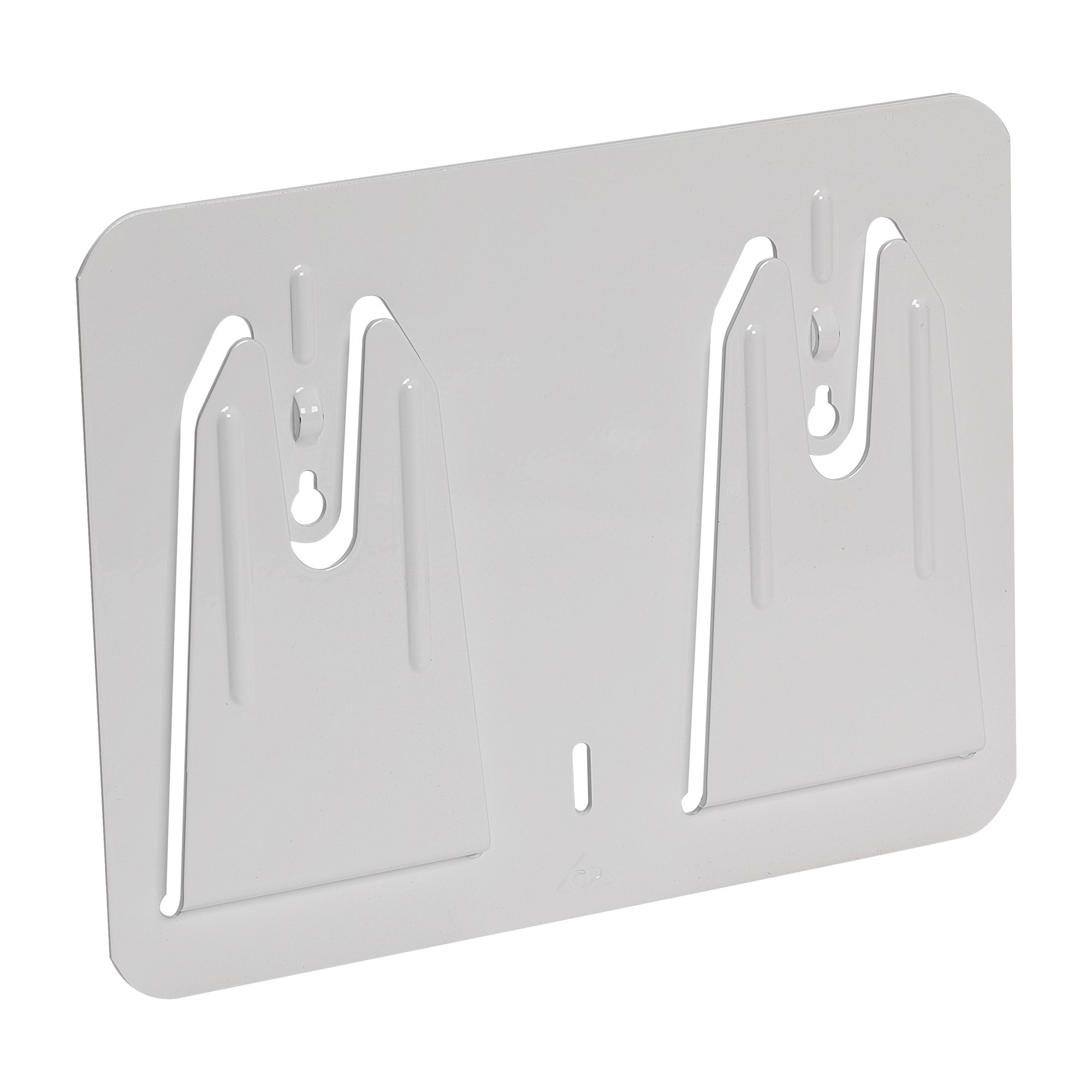 Georgia-Pacific Multiplate 50313 White Metal Wall Mount Boxed Wiper Dispenser, 8.875'' Width x 9.25'' Length