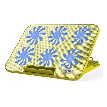 Refrigerador Portátil Base para Computadora Apple USB Soporte para Ventilador De Extracción 15.6 Pulgadas 6 Puertos USB Silenciosos Ajustables Peso Ligero ...