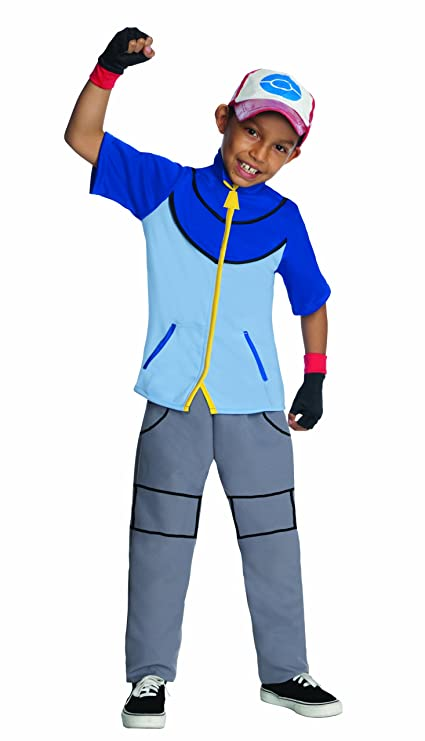 pokemon childs deluxe ash costume one color small