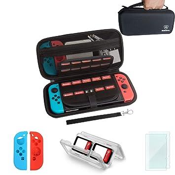 Funda de transporte y protector de pantalla para Nintendo Swtich, accesorios para interruptor Mebarra Kit de