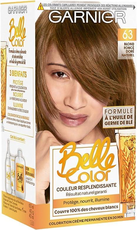Garnier - Belle color - El color permanente de la castaña - 63 de oro Rubio oscuro