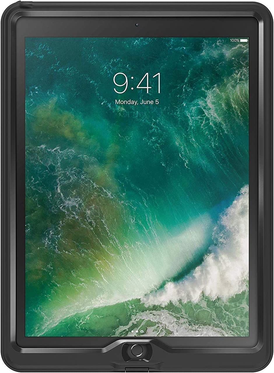 "LifeProof NUUD Series Screenless Waterproof Case for iPad Pro (12.9"" - 2nd Gen) - Non-Retail Packaging - Black"