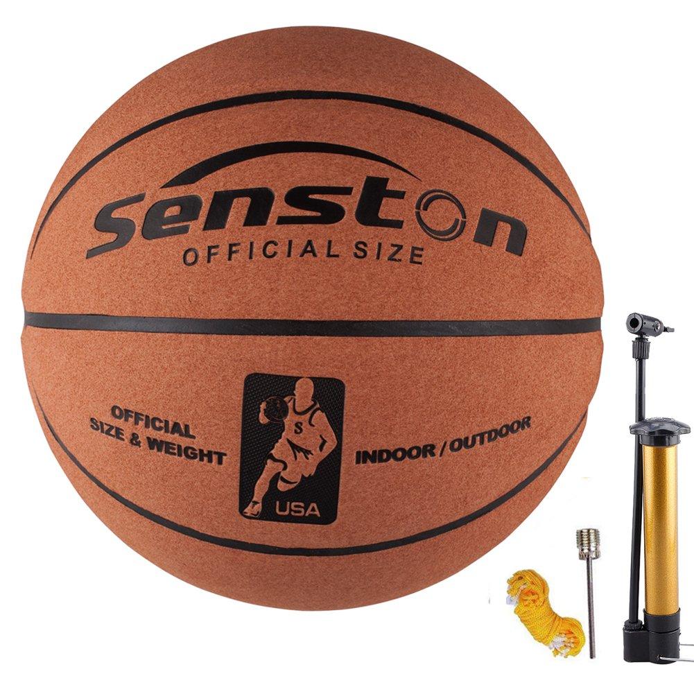 Senston Ballon de Basket-Ball Basketball Extérieur et intérieur -Taille 7