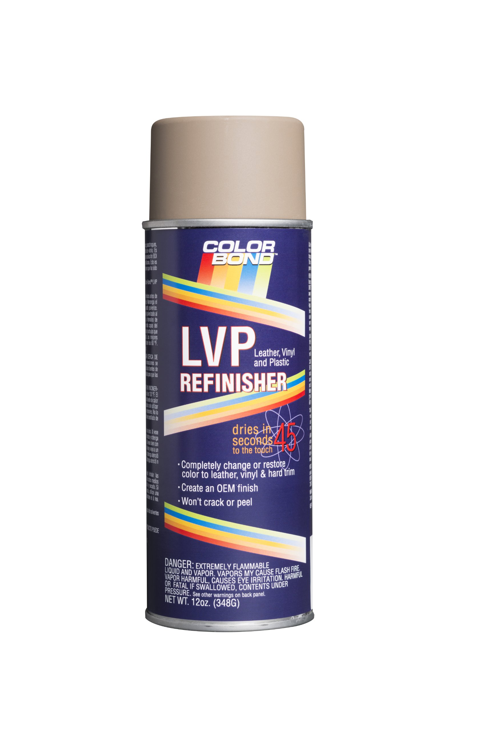 ColorBond (258) BMW Black LVP Leather, Vinyl & Hard Plastic Refinisher Spray Paint - 12 oz.