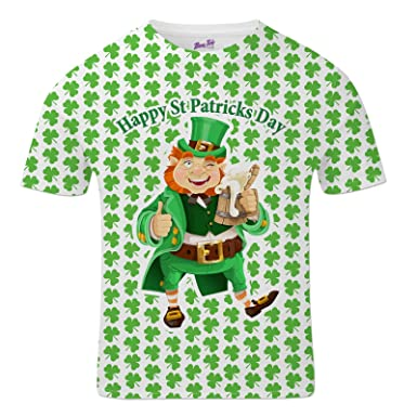 e7a477a9e Bang Tidy Clothing St Patricks Day T Shirts Funny Irish Tops for Men  Leprechaun: Amazon.co.uk: Clothing