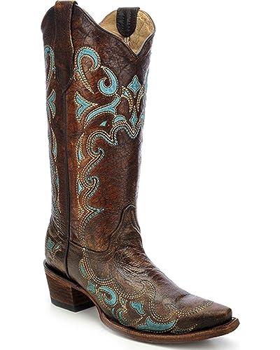 Corral Boots L5193, Bottes et Bottines Cowboy Femme Marron