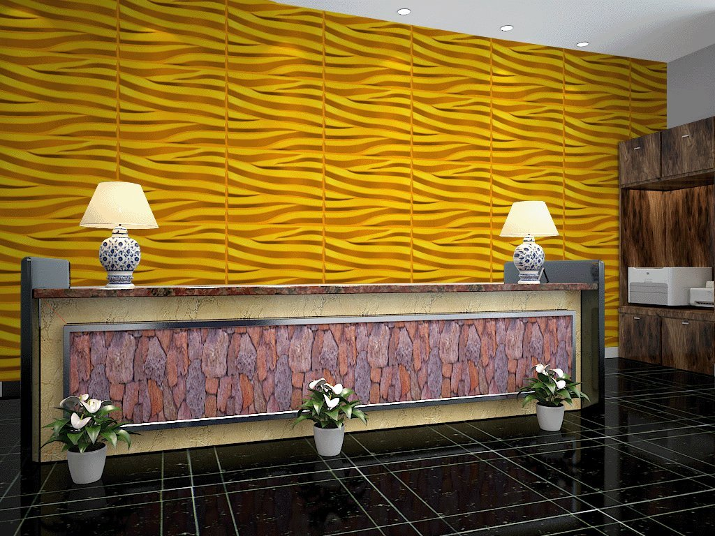 Yellow Feature Wall. Cool Consider How Thick You Want The Lines To ...