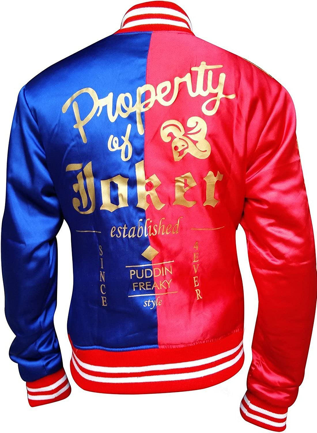Harley Quinn Red & Blue Women Satin Jacket