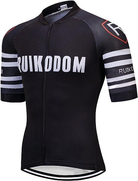 RUIKODOM Verano Hombre Cycling Jersey Maillot Ciclismo Mangas Cortas Camiseta de Ciclistas Ropa Ciclismo