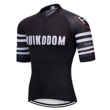 RUIKODOM polyester and Lycra Summer Cycling Jersey Short Sleeve For Men  Bycicle Top Bike Clothes Quick 090de884b