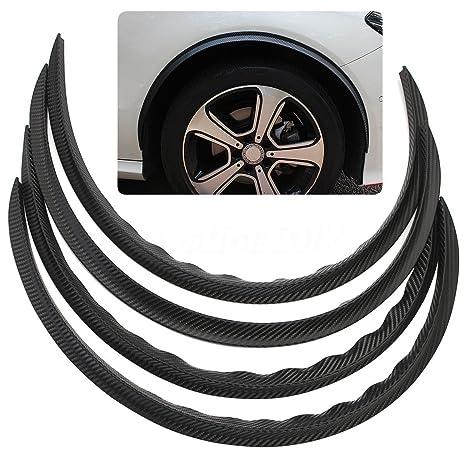 Fibra de Carbono Coche Camión así Fender moldura Trim Universal negro rueda ceja borde de pantalla