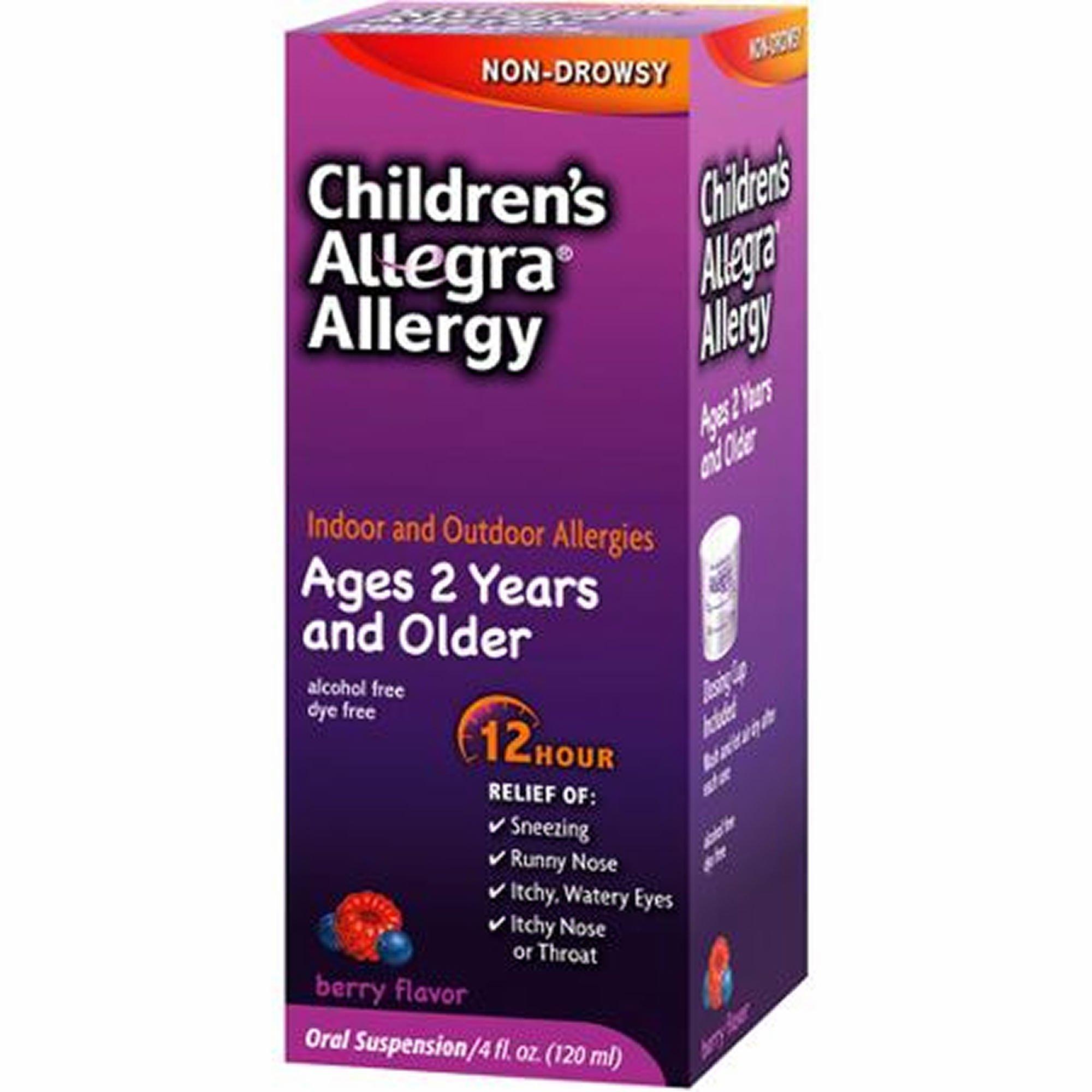 Allegra Children's 12-Hour Allergy Relief Liquid, 3 ct./4 oz. (pack of 6)