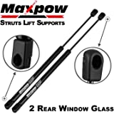 Maxpow 2pcs Rear Window Gas Charged Lift Support Compatible With Liberty 2002-2007 SG314048