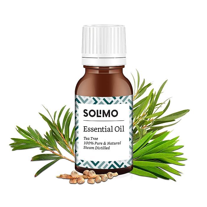 Amazon Brand - Solimo Tea Tree Essential Oil, 100% Pure & Natural, 15 ml