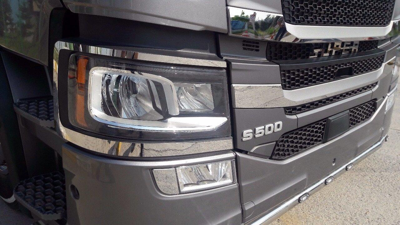 2 x Marco de acero inoxidable para Scania camiones de la ...