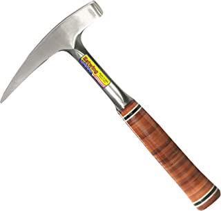 product image for Estwing Rock Pick - 22 oz Geological Hammer with Pointed Tip & Genuine Leather Grip - E30,Steel