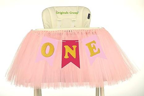 Amazon.com: Originals Group 1st cumpleaños, bebé, rosa falda ...