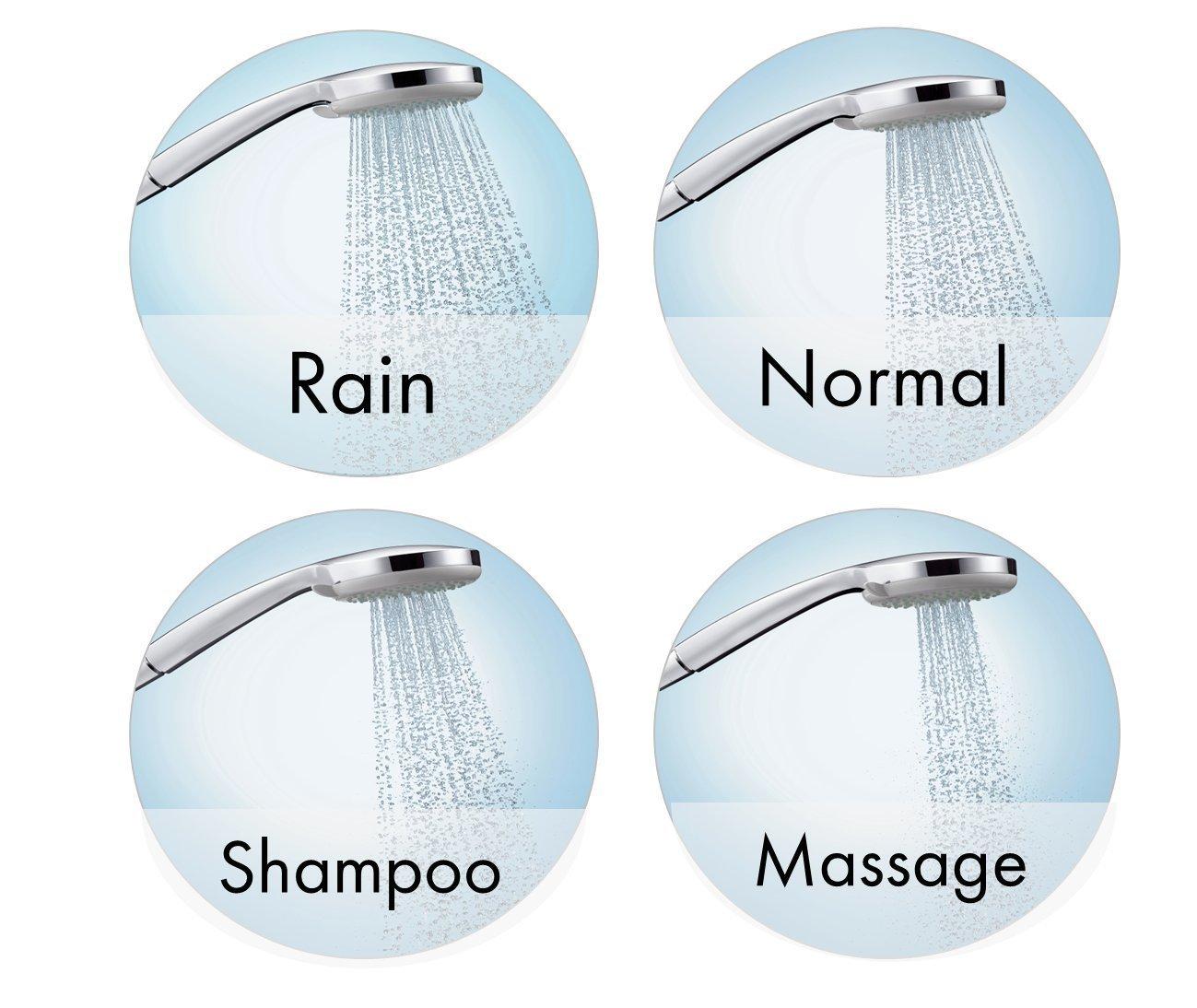 0,65m Hansgrohe 27034000 Croma 100 Vario set de ducha con termostato cromo 2 tipos de chorro