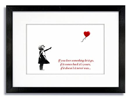 Banksy Balloon Girl White If You Love Something Let It Go