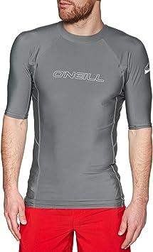 ONeill Pieles básicas Camiseta de Manga Corta Rash Chaleco Superior Humo - Protección Solar UV y propiedades SPF: Amazon.es: Deportes y aire libre
